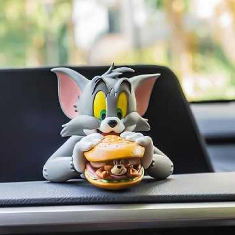 野獸國|CA904湯姆貓與傑利鼠 迷你半身胸像 漢堡包款