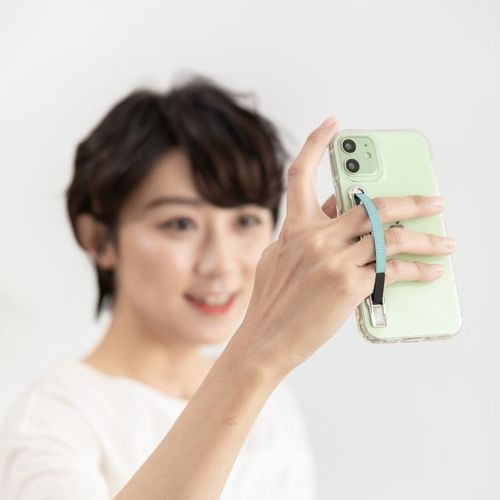 SleekStrip 犀利釦手機支架-銀框X微風水綠