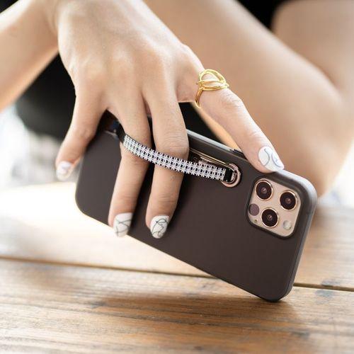 SleekStrip|犀利釦手機支架-亮黑框X藍色漣漪