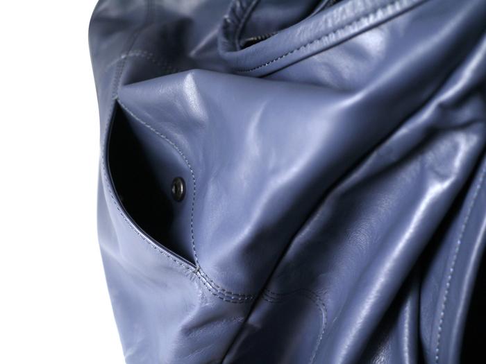 (複製)blackyard︱意大利軟羊皮抓皺紋短肩大包 (黑)