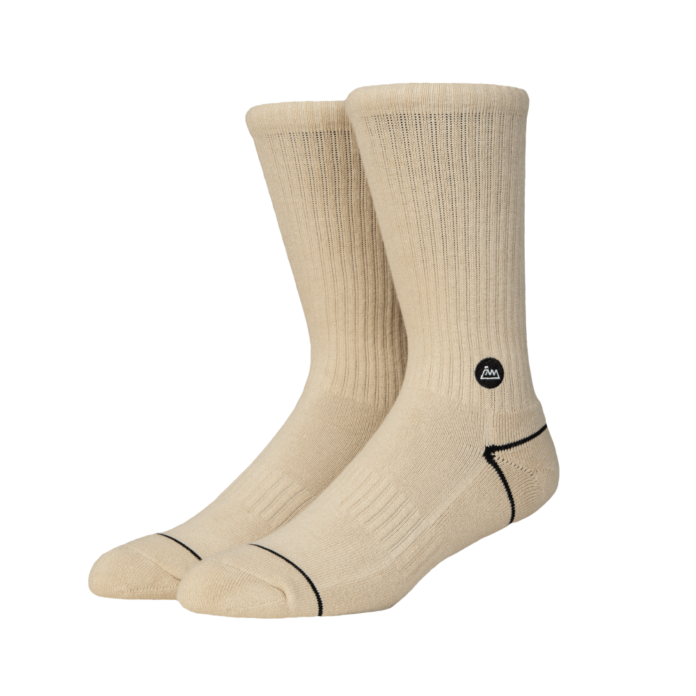 FAAM|On Fleek 70 奶茶色 - 中高筒運動休閒襪
