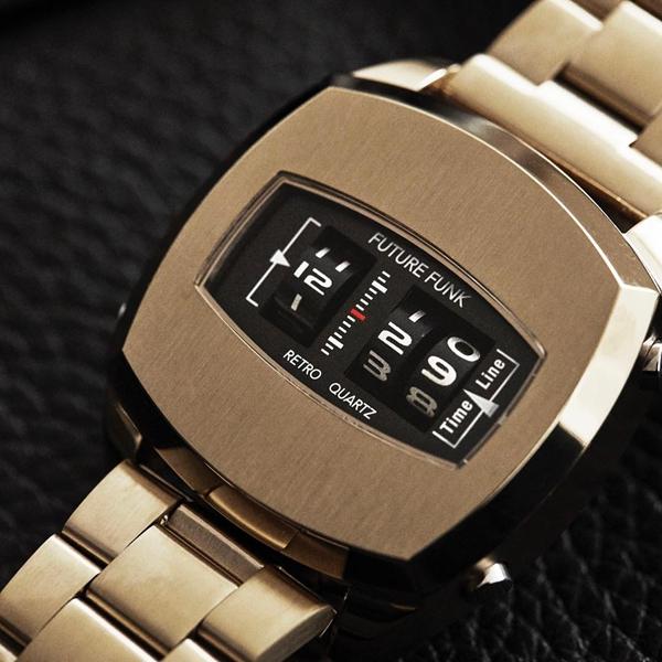 (複製)Future Funk | 迴轉向你-太空時代-月牙銀,日本直立迴轉石英錶
