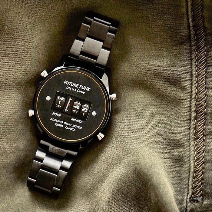 (複製)Future Funk|迴轉向你-星光銀,日本直立迴轉式石英錶