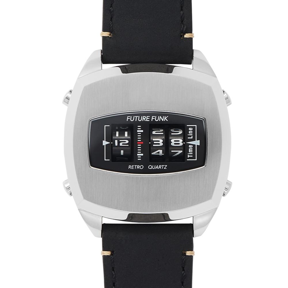 Future Funk|迴轉向你-星光銀,日本直立迴轉式石英錶