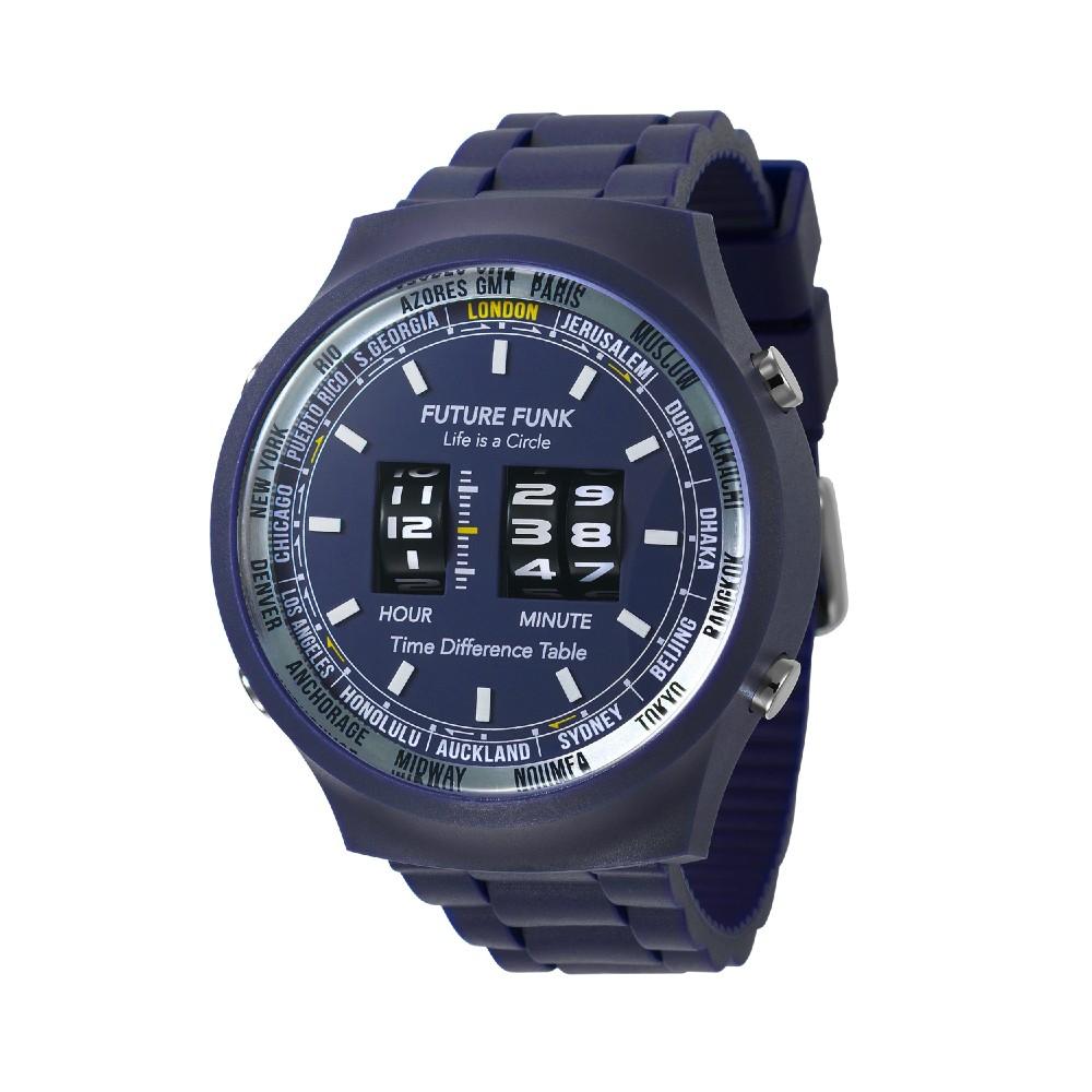 Future Funk 創造者,海軍藍,日本直立迴轉式石英錶