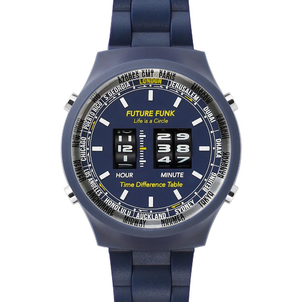 Future Funk|創造者,海軍藍,日本直立迴轉式石英錶