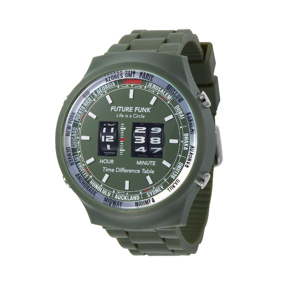 Future Funk 創造者,橄欖綠,日本直立迴轉式石英錶