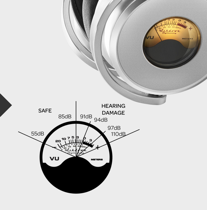 Meters | 發光VU表藍牙耳機 磐石黑
