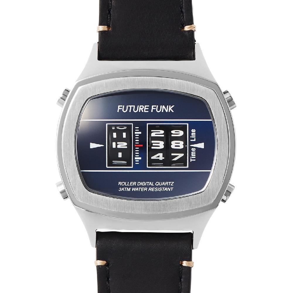 Future Funk|更新變化-藍影系列,日本直立迴轉式石英錶