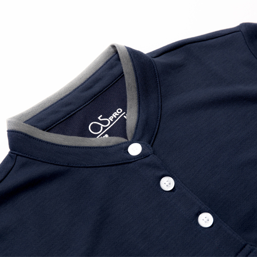 O5 PRO|奇異POLO-女版/立領 (西裝藍)