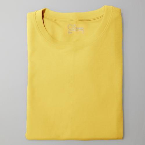 O5 PRO|奇異長效涼感T-男版/圓領 (蜂蜜奶油黃)