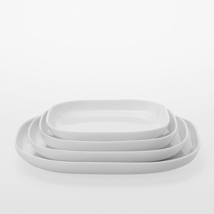 TG|白瓷方盤四件組