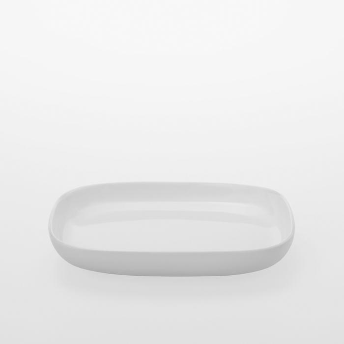 TG|白瓷方盤 -150mm