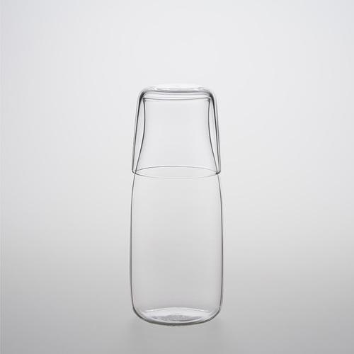 TG 耐熱涼水壺杯組380ml x 耐熱玻璃水杯 2入