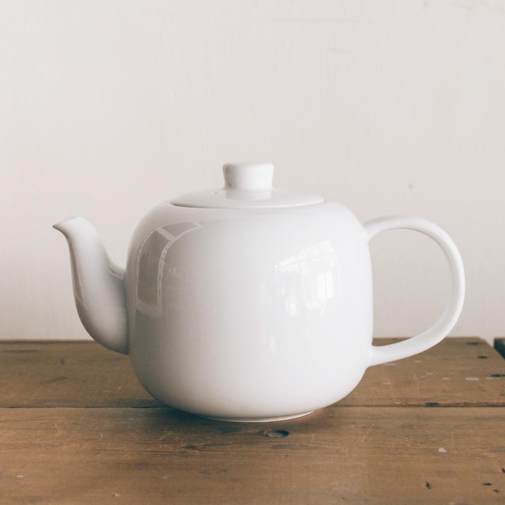 TG|白瓷茶壺-840ml