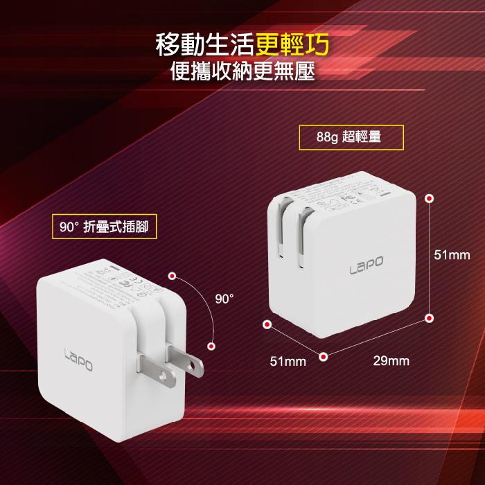 LaPO|極限系列 GaN氮化鎵65W快速充電器