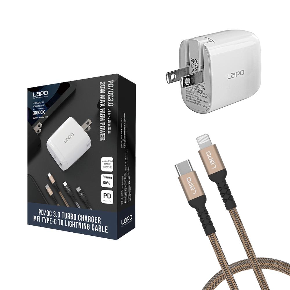 LaPO|PD/QC3.0 USB 2合1快速充電組 WT-PCL02