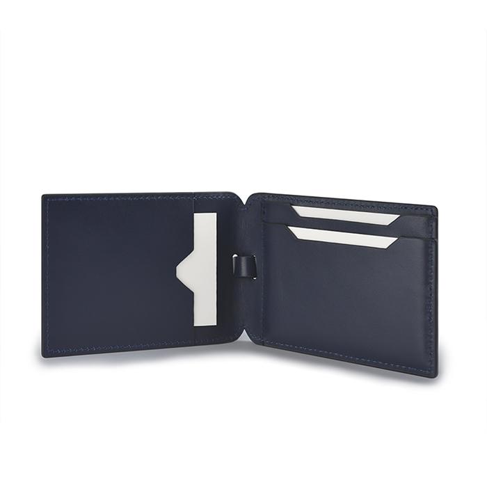 Aholic 皮革證件夾 - 深藍