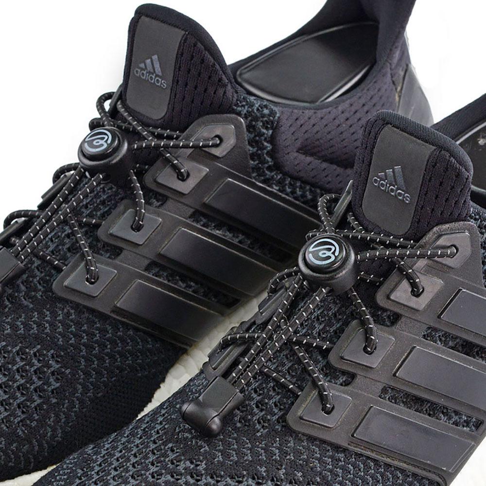 Aholic|壓釦免綁鞋帶 (反光黑)
