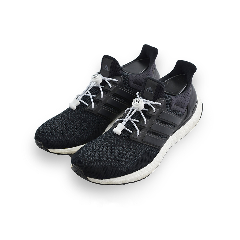 Aholic|壓釦免綁鞋帶 (反光白)