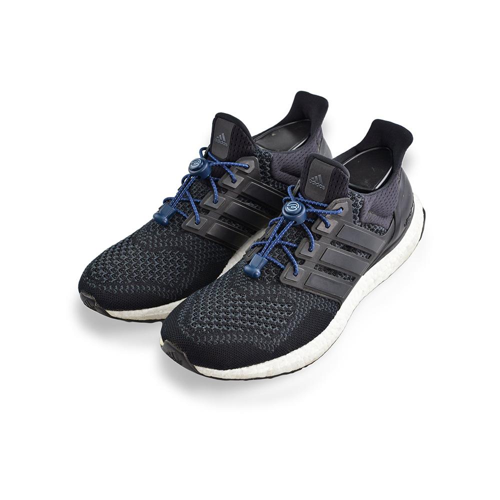 Aholic|壓釦免綁鞋帶 (反光深藍)
