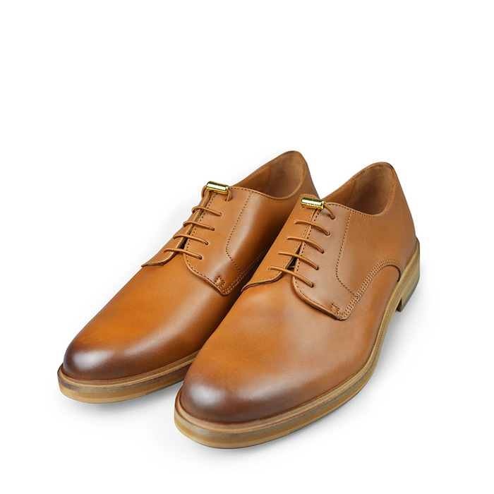 Aholic|金屬釦鞋帶 (紅棕)