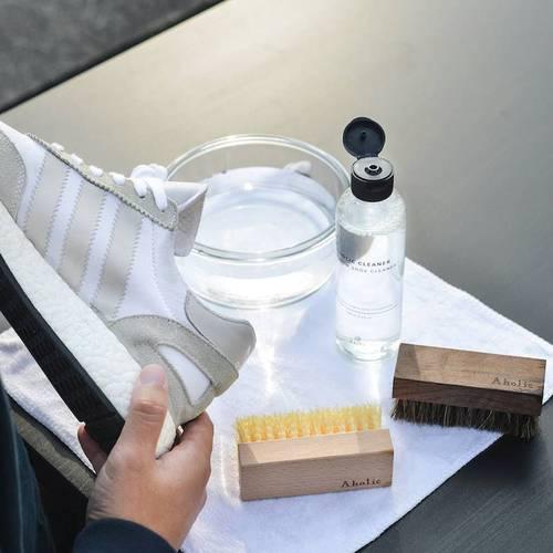 Aholic|基本清潔鞋刷組 - 附頂級馬毛鞋面刷