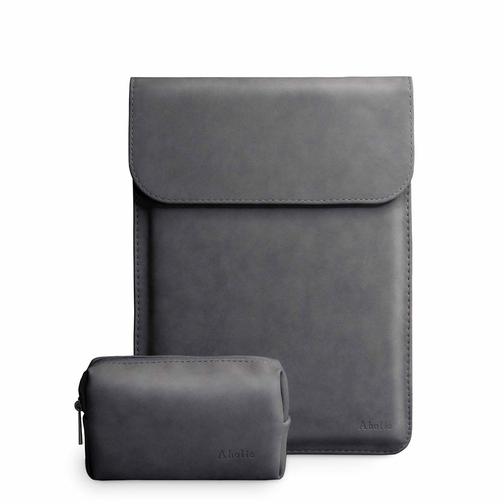 Aholic|信封式磁吸筆電保護套 + 質感小物收納包優惠組 - 13吋