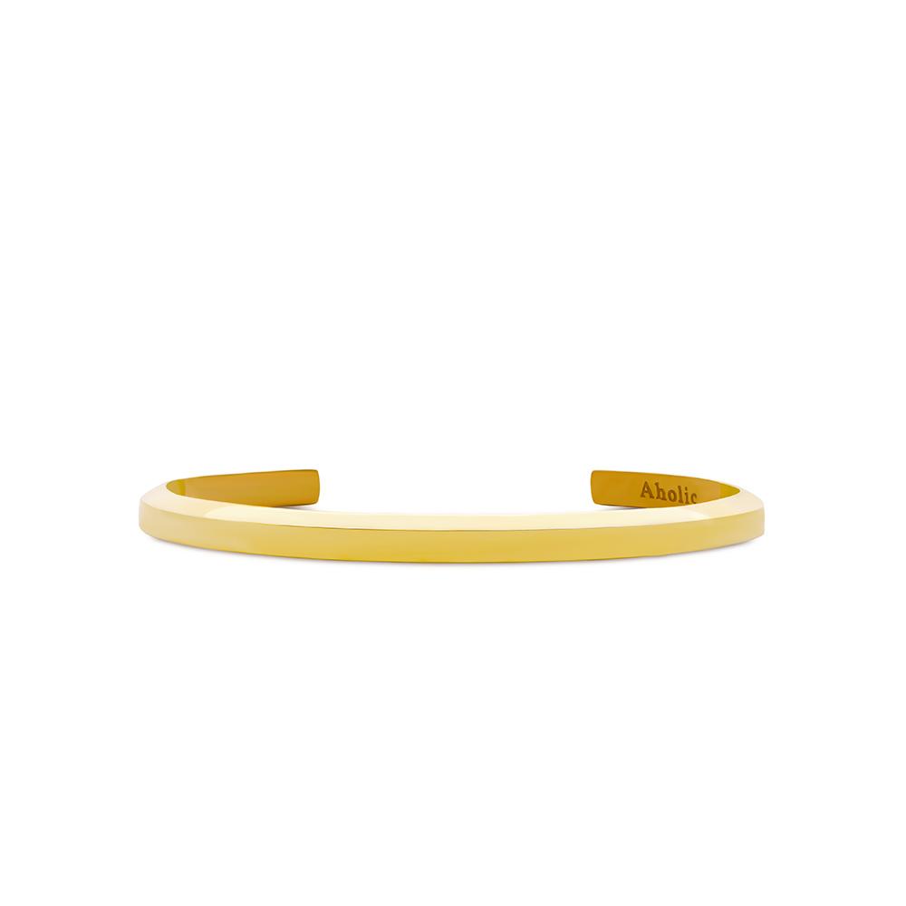 Aholic|CUFF 女款經典手環 (典雅金)