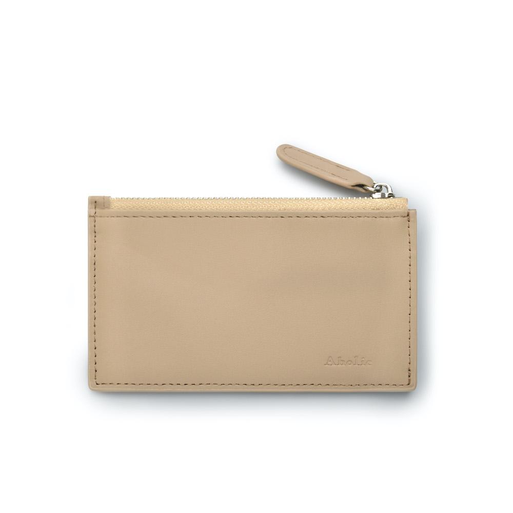 Aholic|皮革零錢卡夾 (杏色)