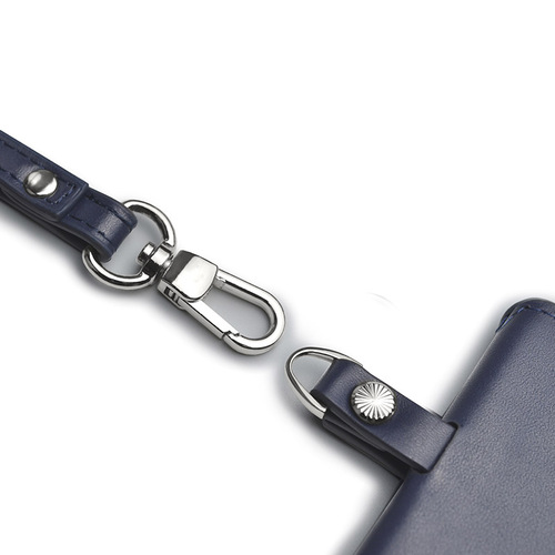 Aholic|皮革證件夾 (深藍)