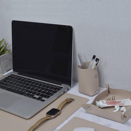 Aholic|皮革桌墊 (杏色)