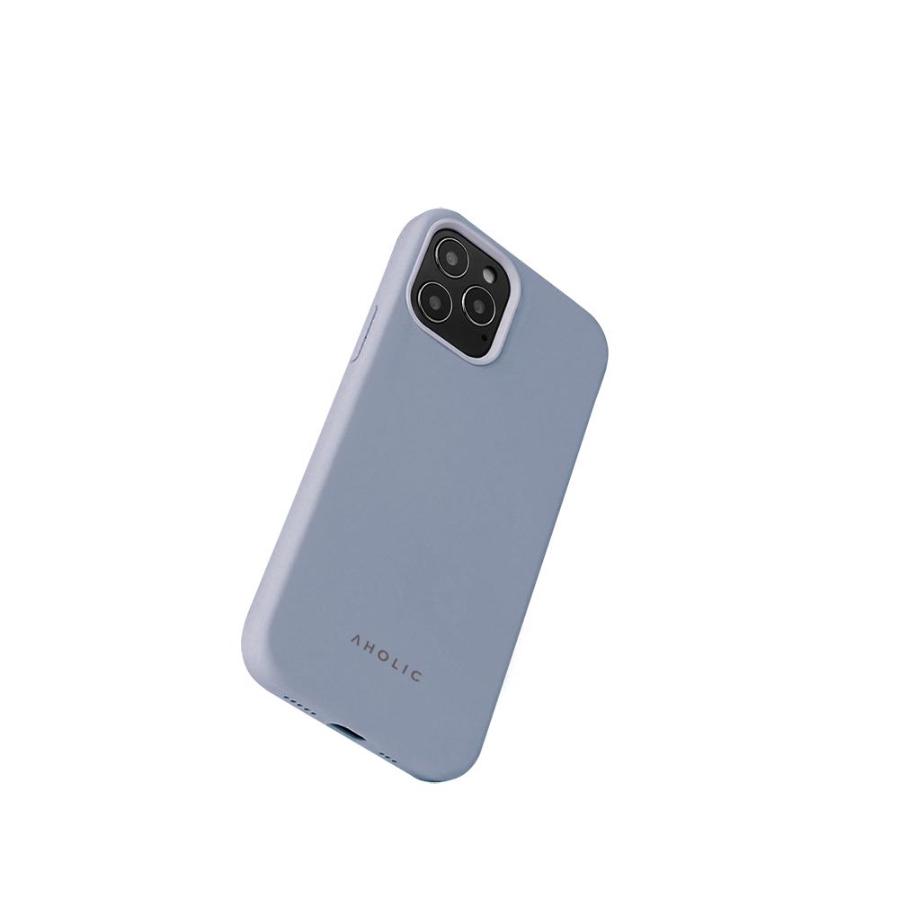 Aholic|iPhone 12 / 12 Pro 矽膠手機殼 - 灰藍