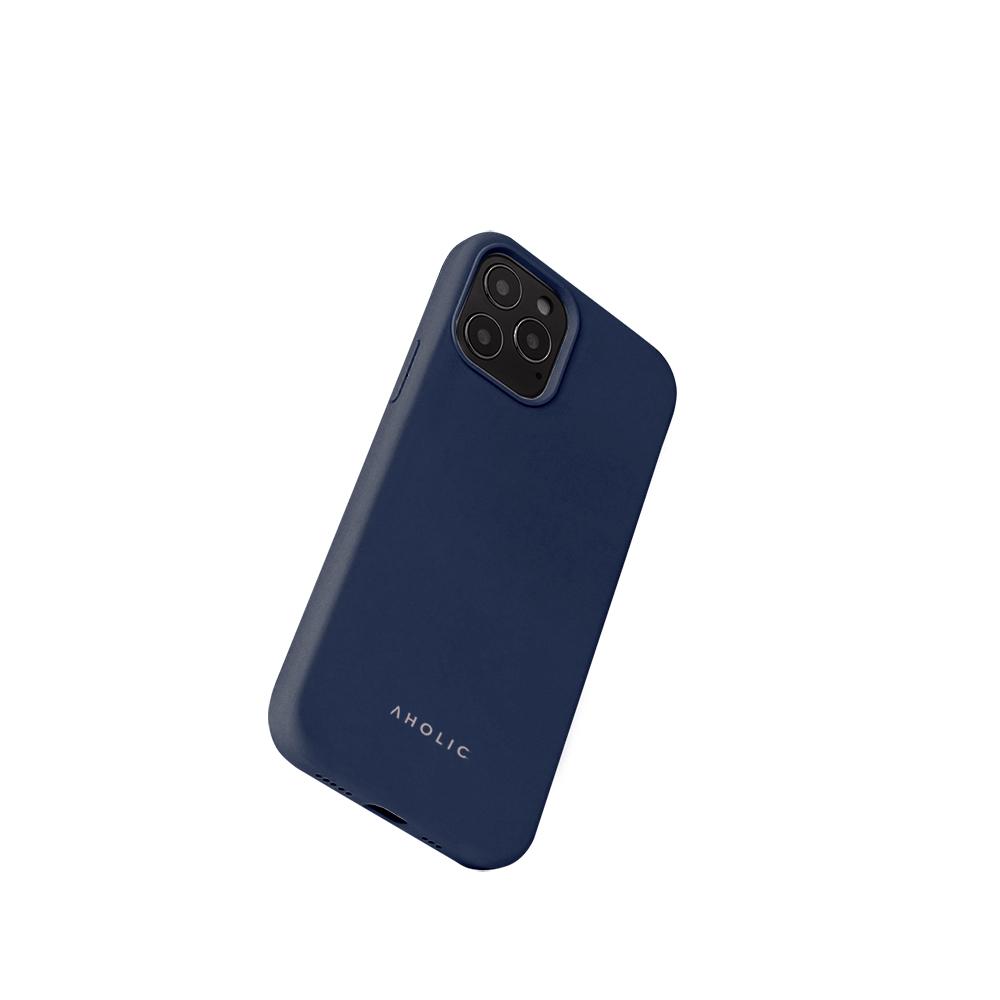 Aholic|iPhone 12 / 12 Pro 矽膠手機殼 - 深藍