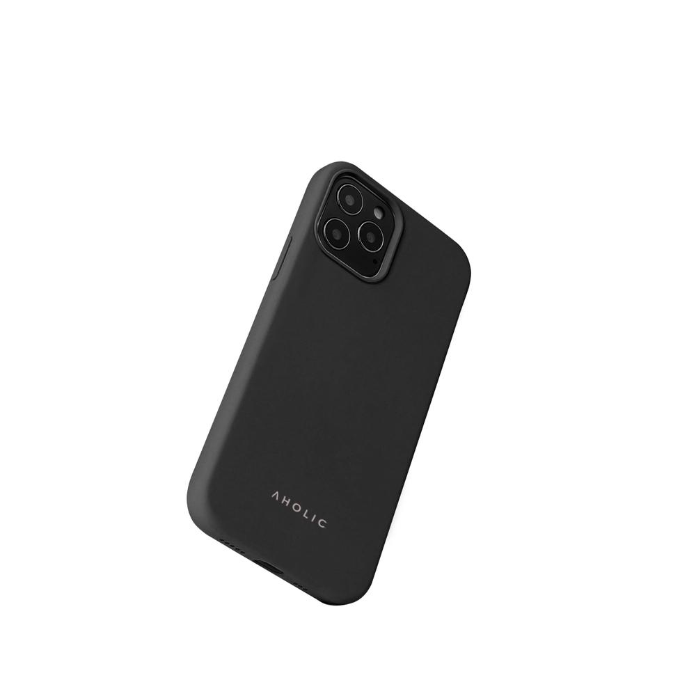 Aholic|iPhone 12 / 12 Pro 矽膠手機殼 - 黑色