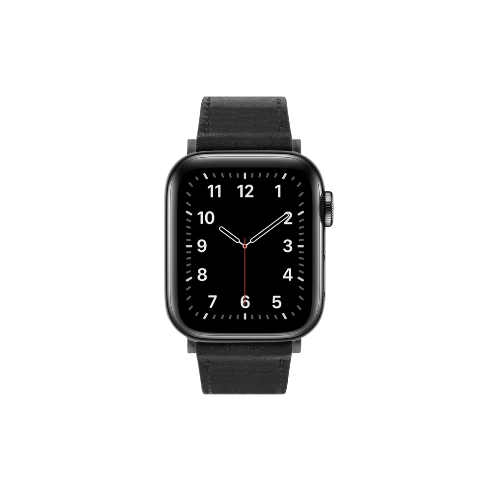Aholic|Apple Watch 皮革錶帶 42/44mm - 黑色