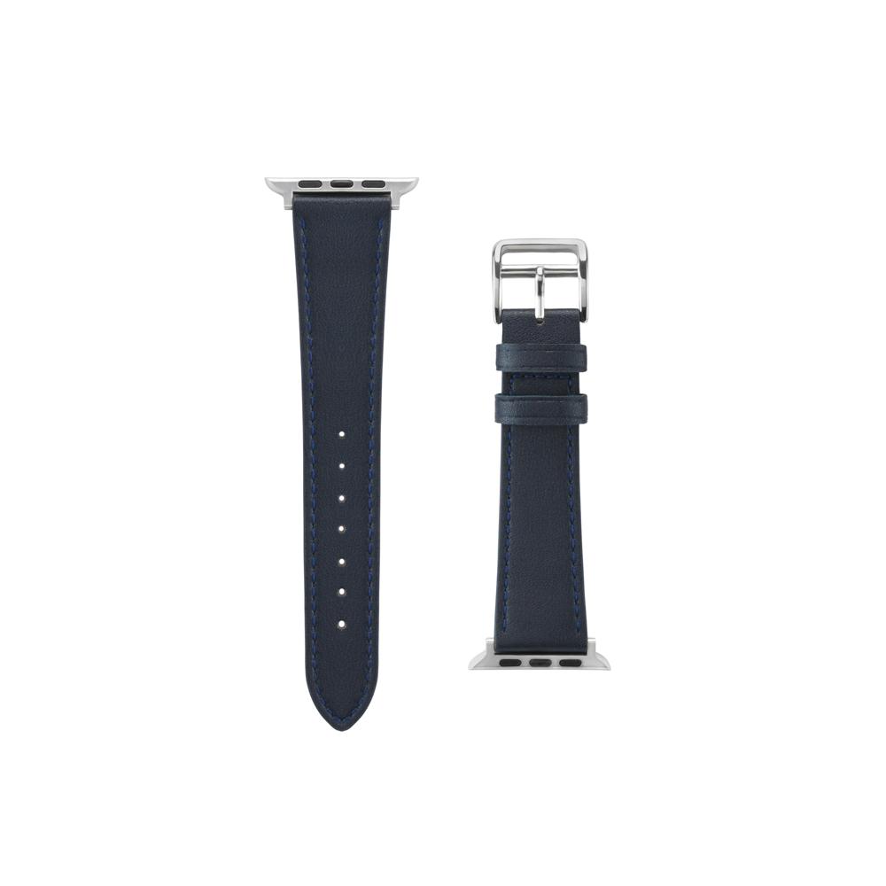 Aholic|Apple Watch 皮革錶帶 42/44mm - 藍色