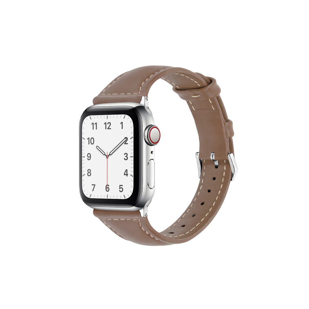 Aholic Apple Watch 皮革錶帶 38/40mm - 可可