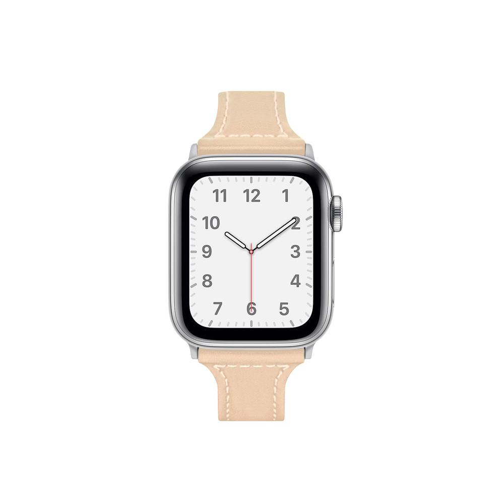 Aholic Apple Watch 皮革錶帶 38/40mm - 杏色