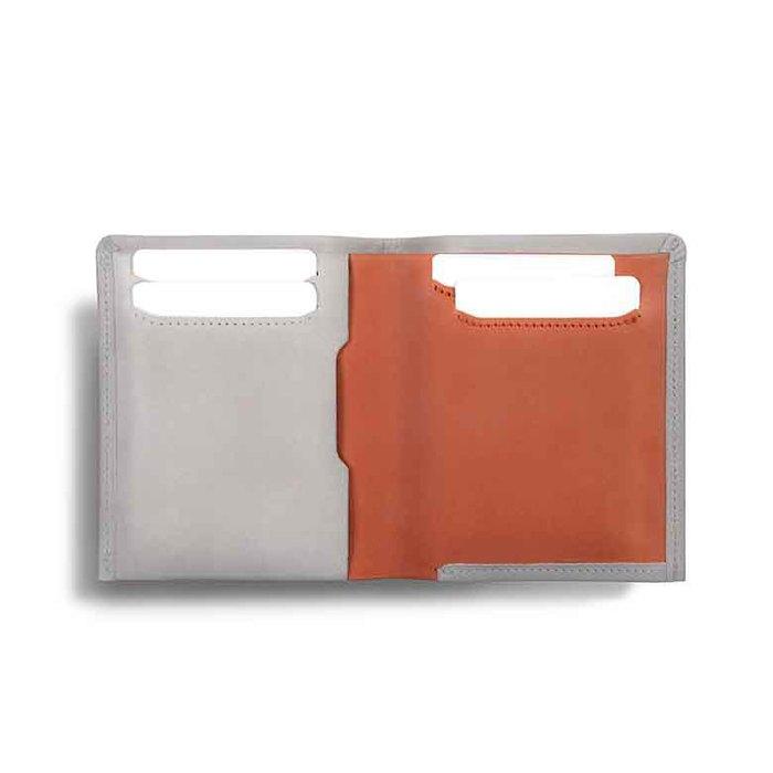 Aholic 36克極輕薄皮夾 - 米色/橘色