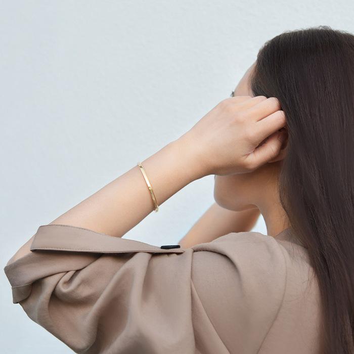 (複製)Aholic|CUFF 女款經典手環 (原鋼色)