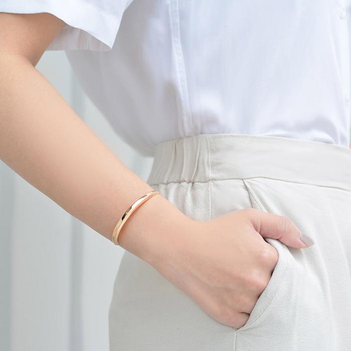 (複製)Aholic|CUFF 女款經典手環 (典雅金)