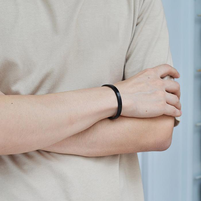 (複製)Aholic|CUFF 男款經典手環 (原鋼色)