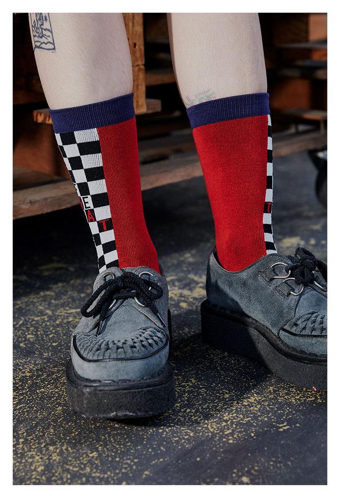 LIFEBEAT|加州系列Half Plaid格紋印花襪
