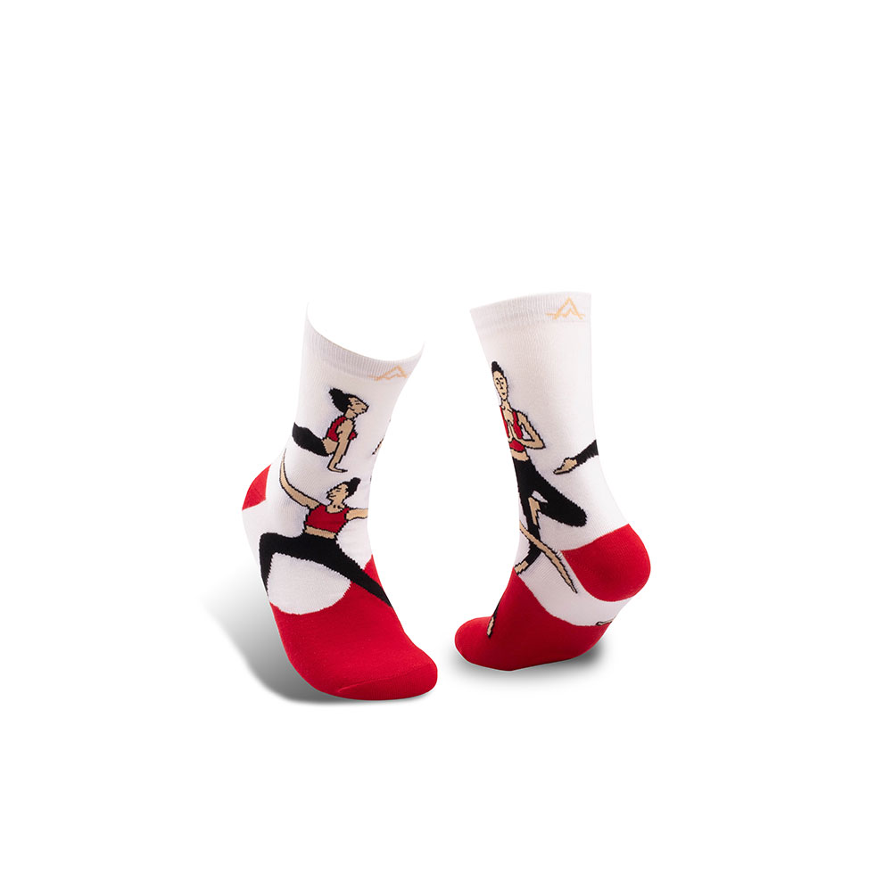 LIFEBEAT 加州系列Let's Flow瑜珈印花襪