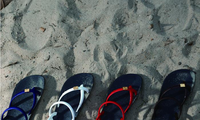 (複製)blackOut|訂製細帶涼鞋-卡其底+白鞋帶