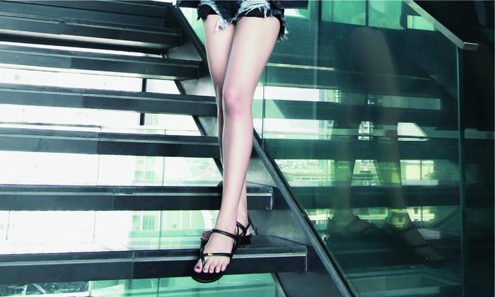 blackOut|訂製細帶涼鞋-黑底+黑鞋帶