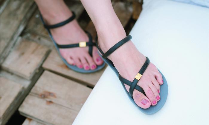 (複製)blackOut|訂製細帶涼鞋-黑底+白鞋帶