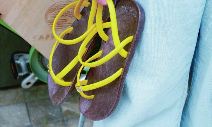 (複製)blackOut 訂製細帶涼鞋-灰底+白鞋帶