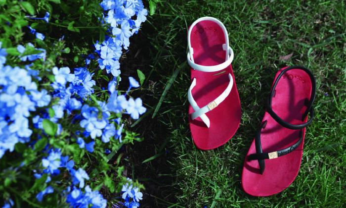(複製)blackOut|訂製細帶涼鞋-巧克力底+芥黃鞋帶